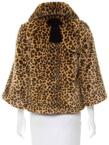Kate Spade New York Faux Fur Jacket - Jackets