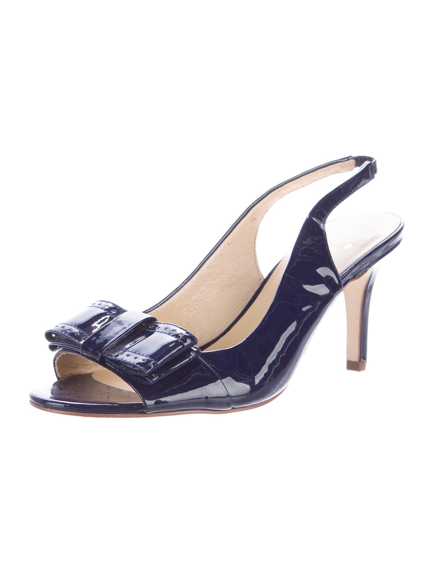 kate spade new york patent leather slingback pumps shoes