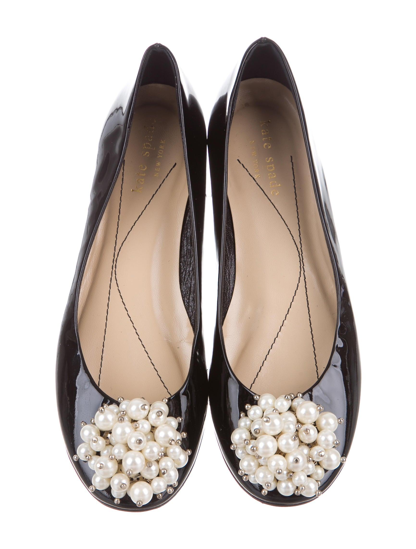 Kate spade new york embellished round toe flats shoes for Kate spade new york flats