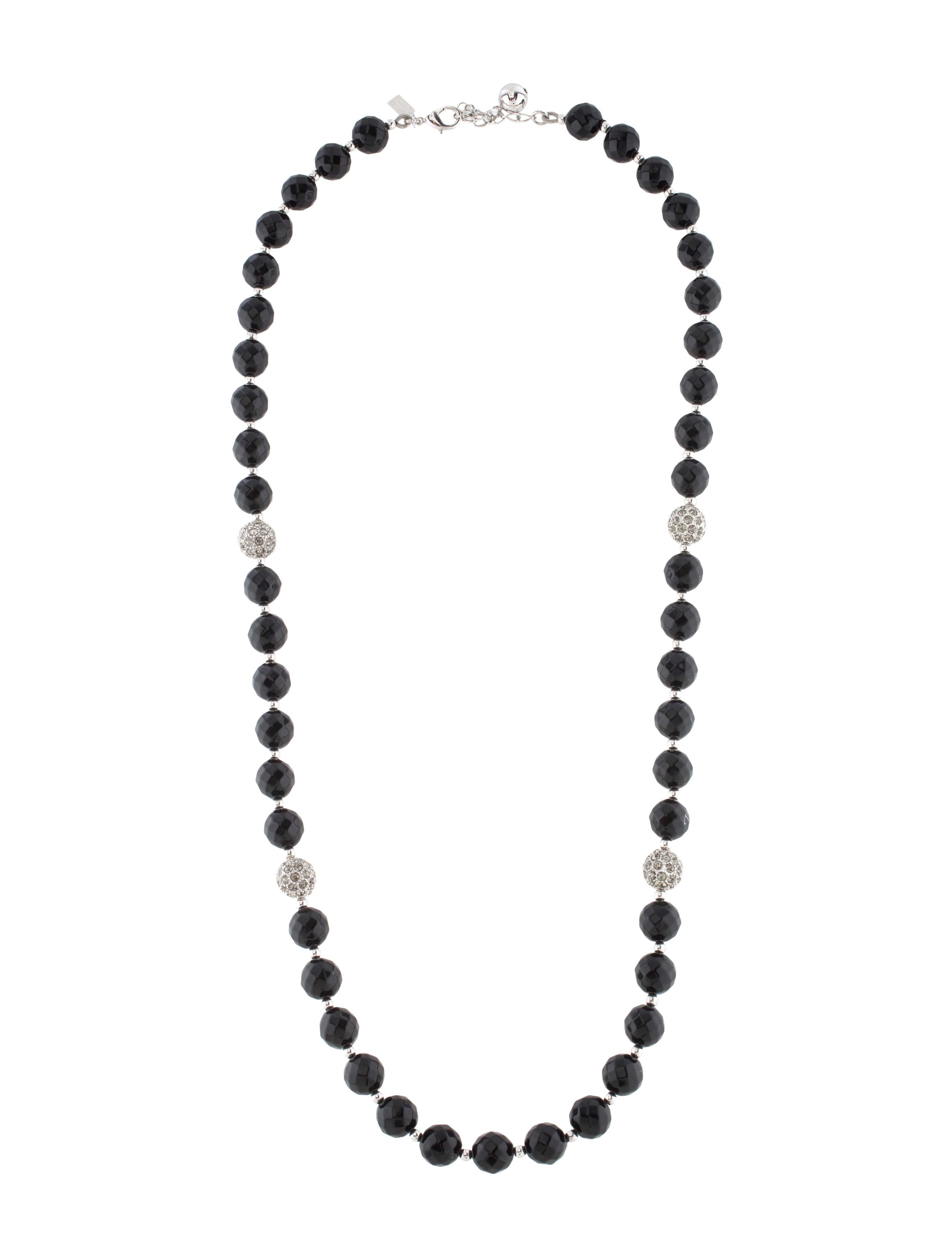 kate spade new york bead crystal necklace necklaces. Black Bedroom Furniture Sets. Home Design Ideas