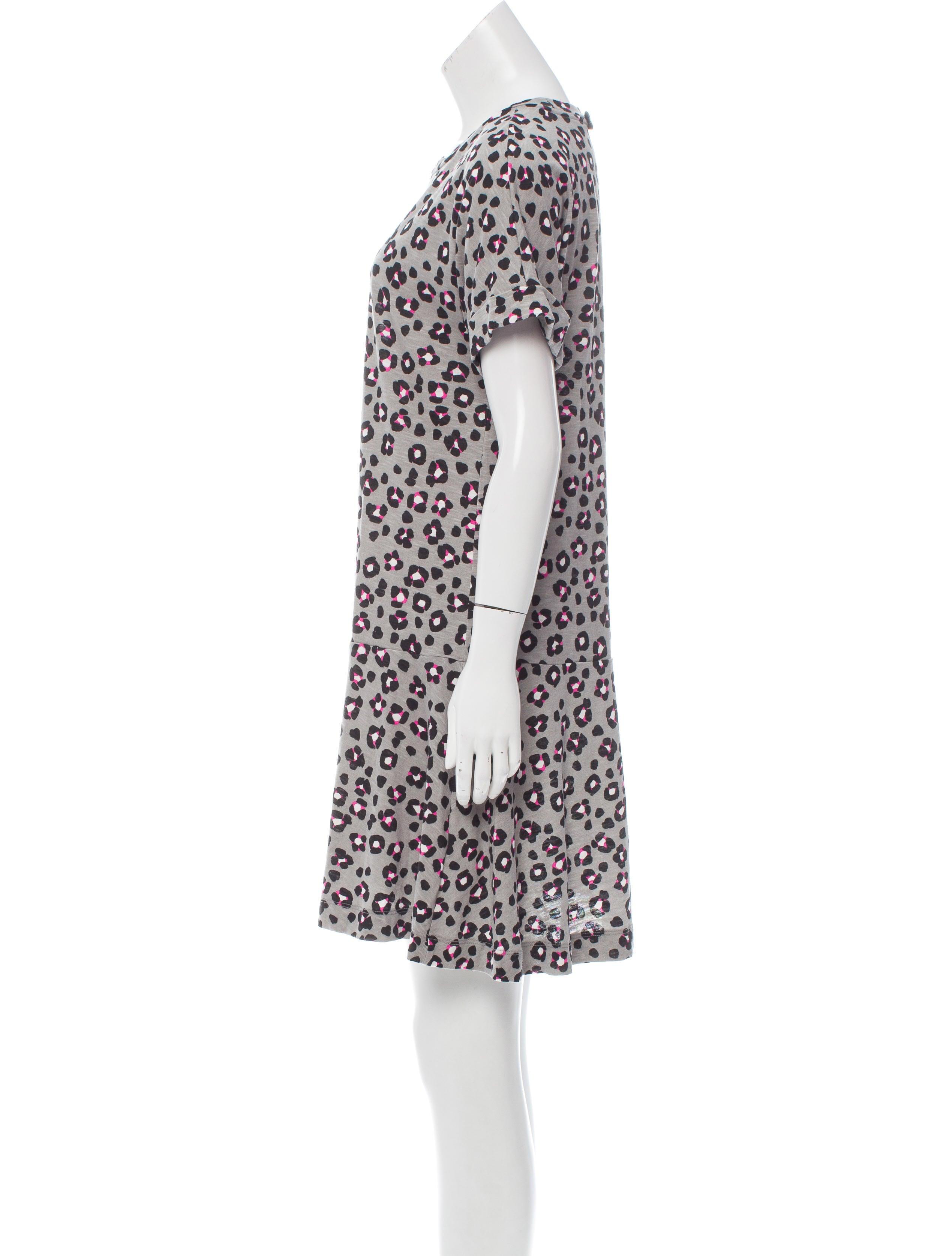 Kate Spade New York Leopard Intarsia Dress Clothing