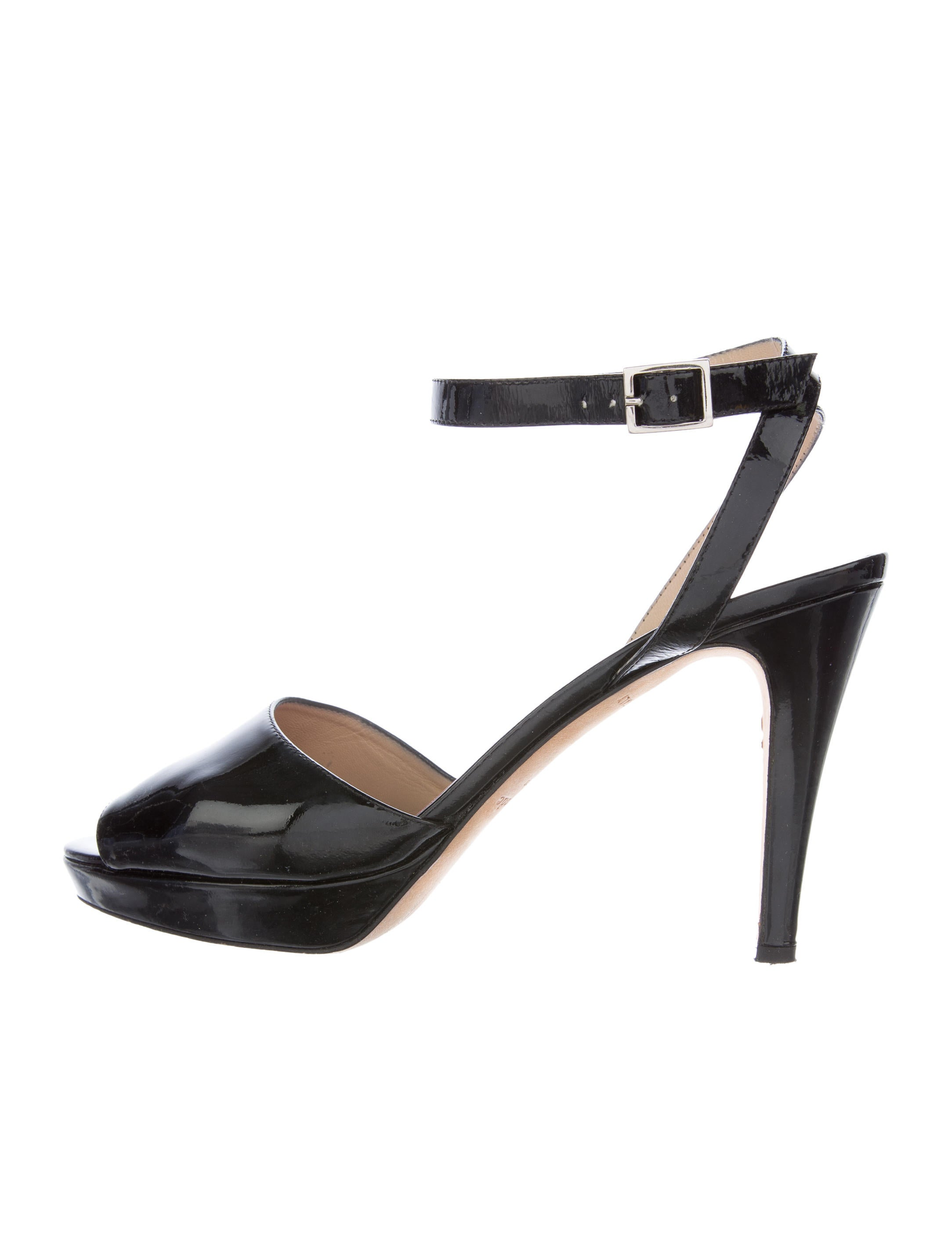 kate spade new york patent leather ankle sandals