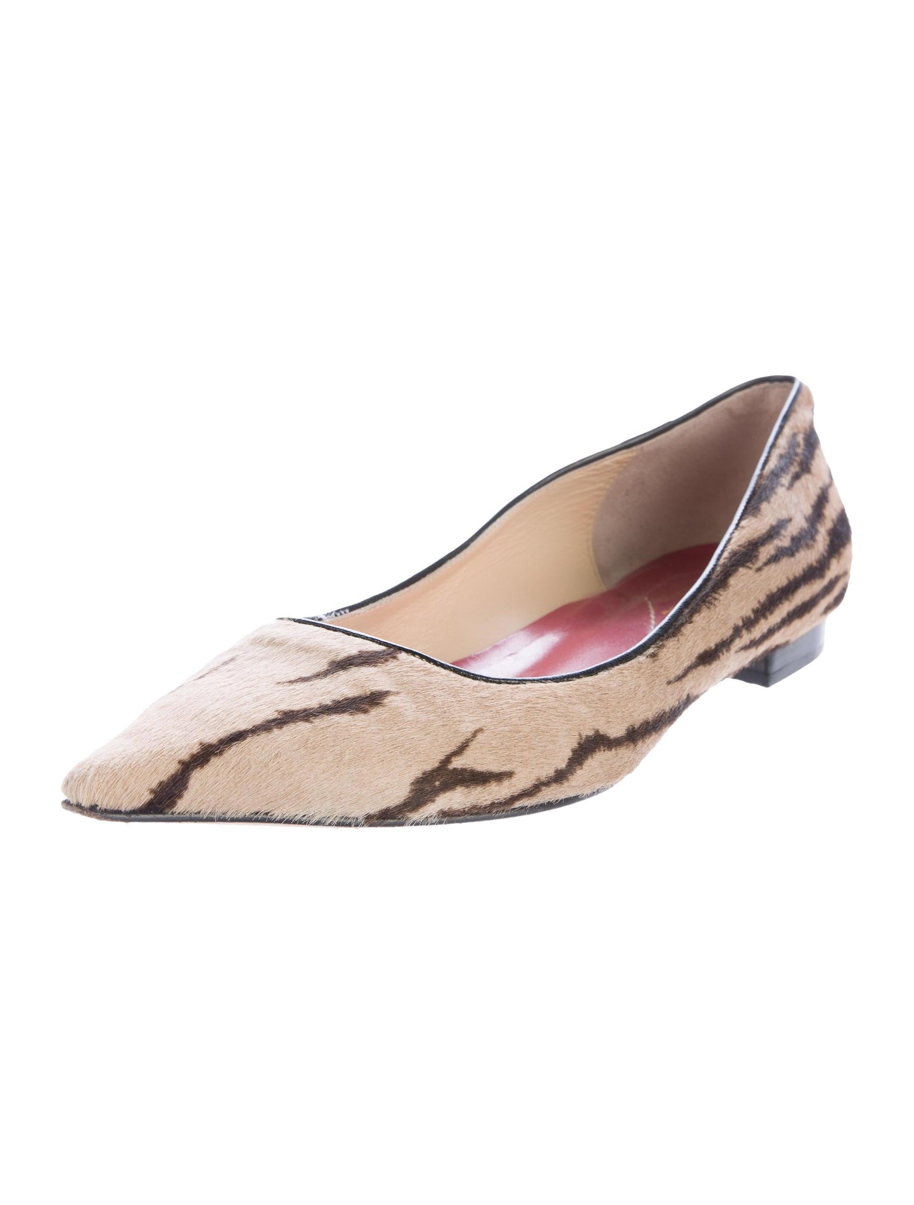 Kate spade new york ponyhair pointed toe flats shoes for Kate spade new york flats