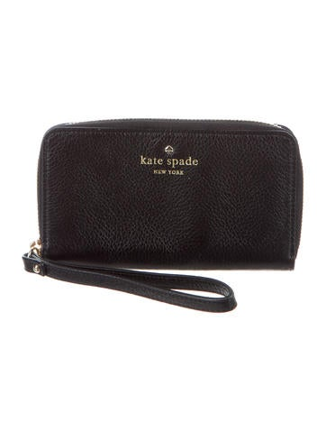 Kate Spade New York Leather Logo Wristlet None