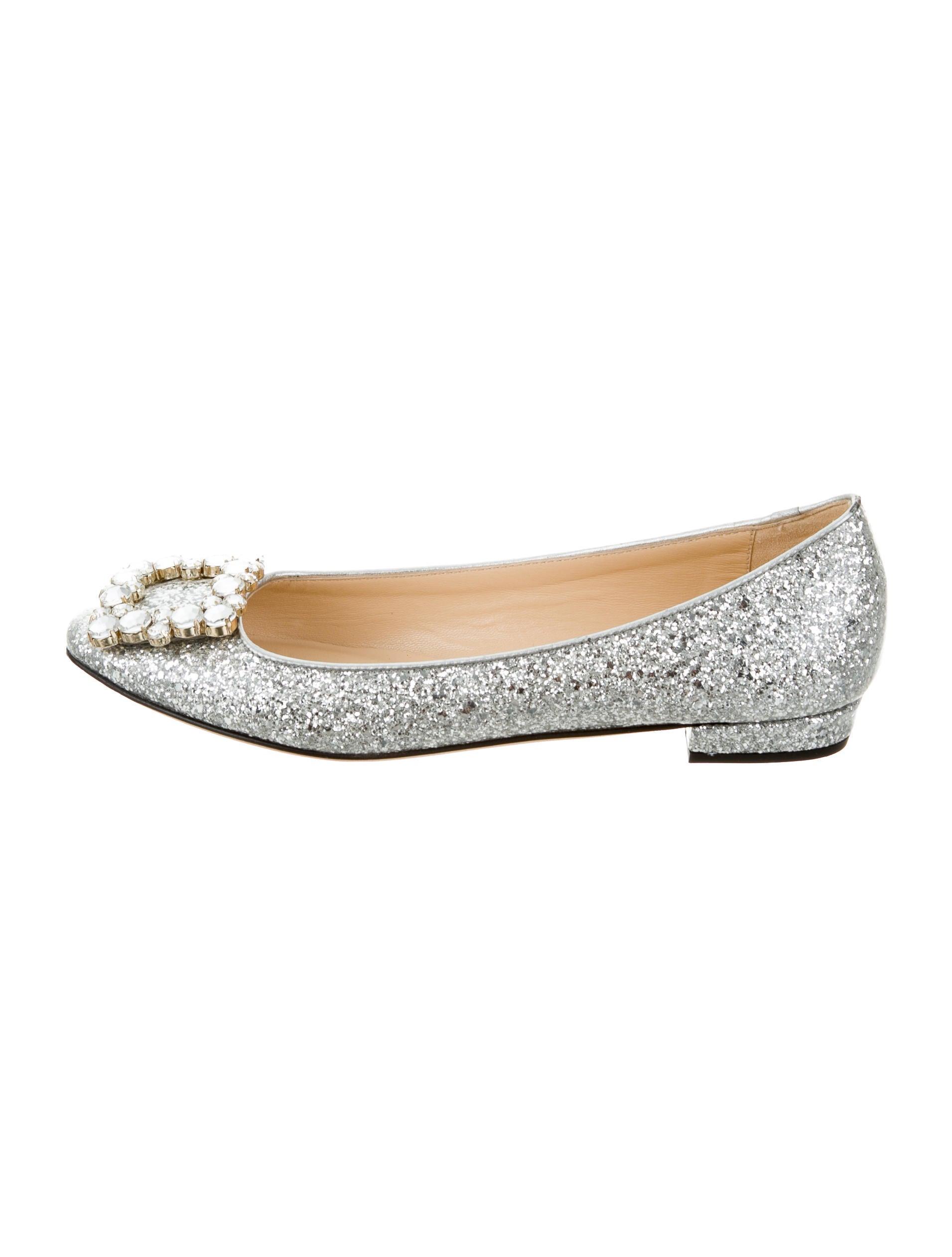 Kate spade new york embellished glitter flats shoes for Kate spade new york flats