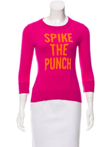 Kate Spade New York Intarsia Wool Sweater None