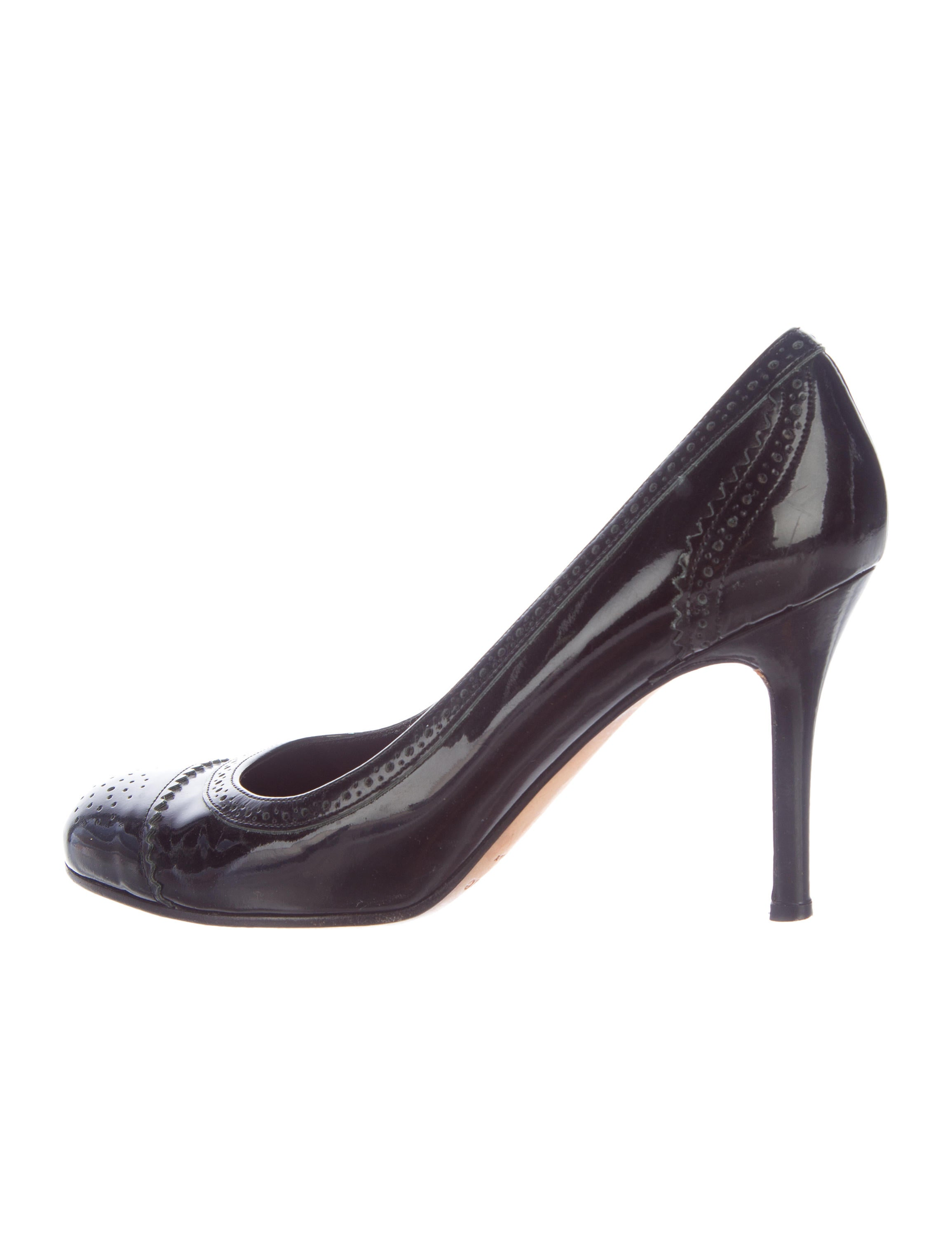 bc45fcdb9d63 Kate Spade New York Patent Leather Brogue Pumps - Shoes - WKA64471 ...
