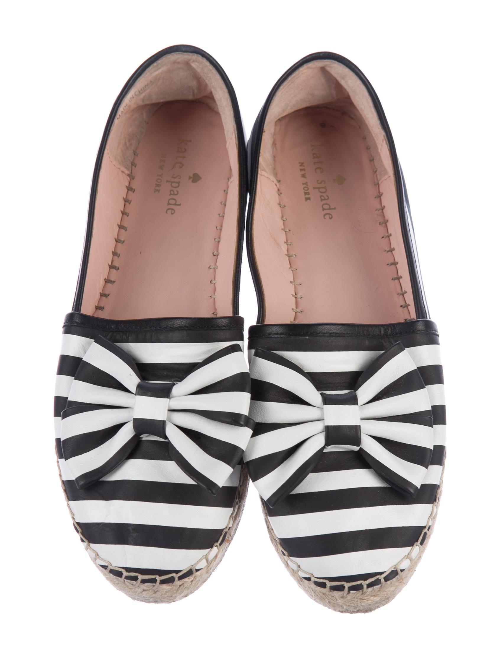 Kate spade new york leather espadrille flats shoes for Kate spade new york flats