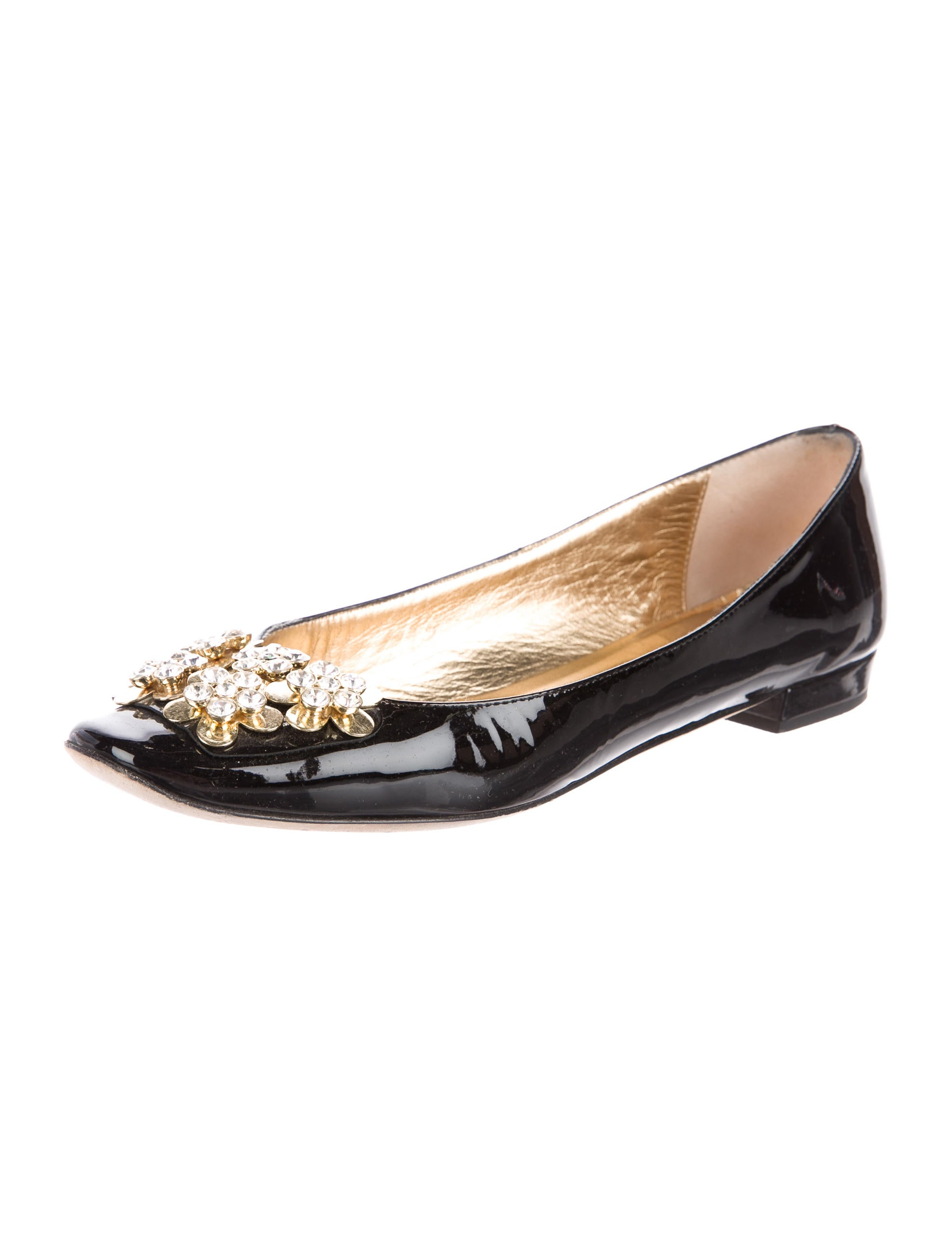 Kate spade new york embellished patent leather flats for Kate spade new york flats