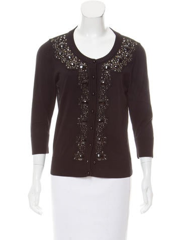 Kate Spade New York EMbellished RIb Knit Cardigan None