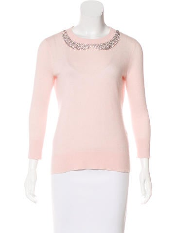 Kate Spade New York Wool-Blend Embellished Sweater None