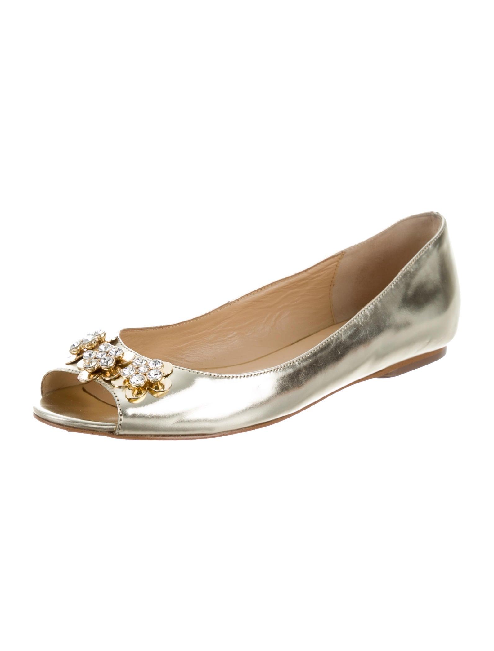 Kate spade new york floral peep toe flats shoes for Kate spade new york flats