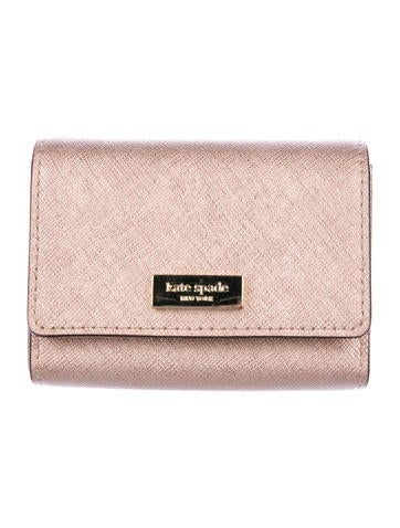 Kate Spade New York Metallic Saffiano Card Holder None