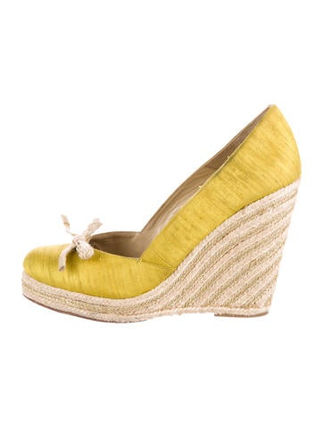 Kate Spade New York Bow-Accented Espadrille Wedges None
