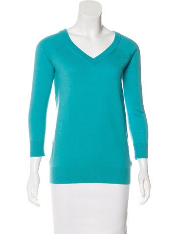 Kate Spade New York Wool V-Neck Sweater None