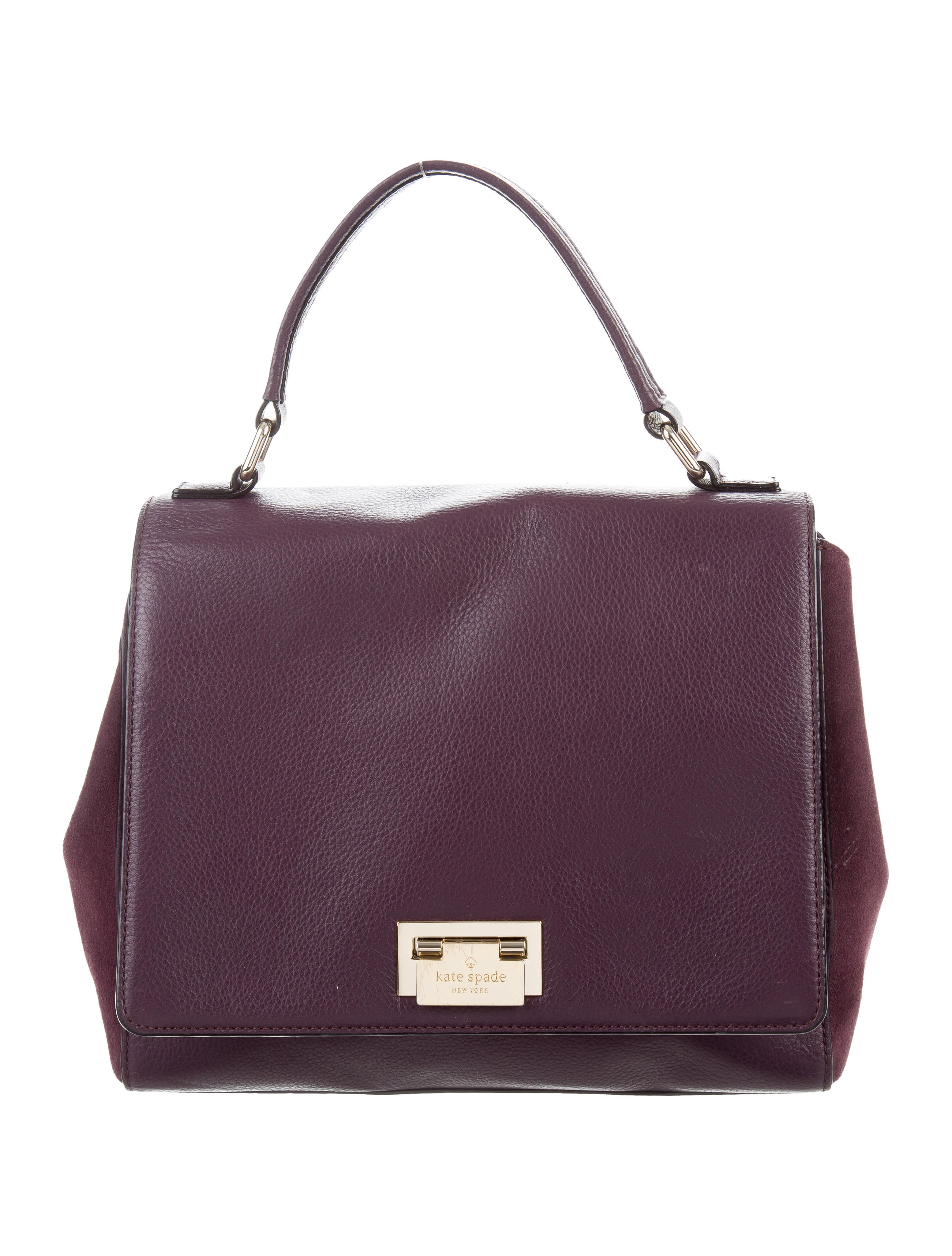 Kate Spade New York Magnolia Park Suede Laurel Bag  : WKA689301enlarged from www.therealreal.com size 2602 x 3434 jpeg 691kB