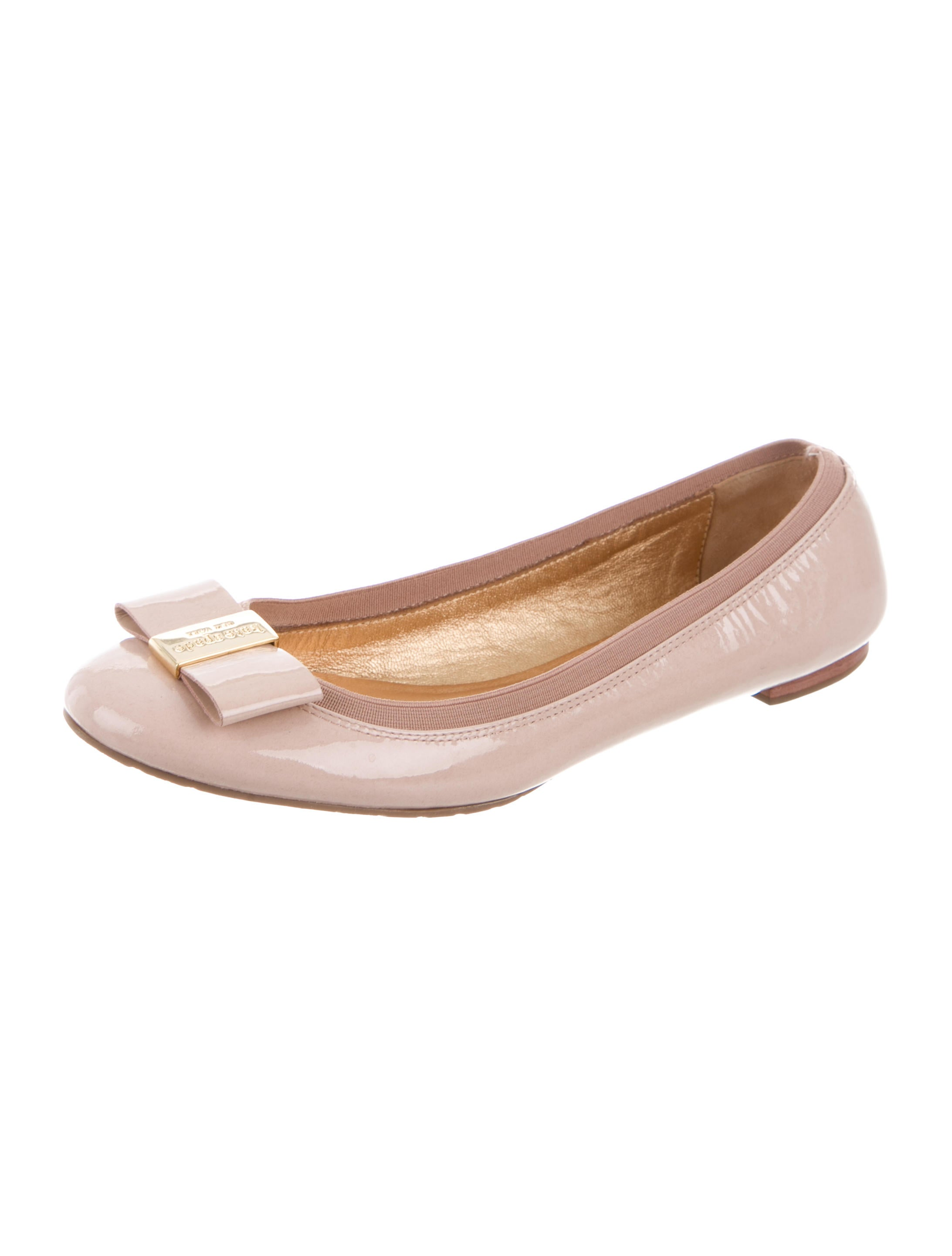 Kate spade new york patent leather bow flats shoes for Kate spade new york flats