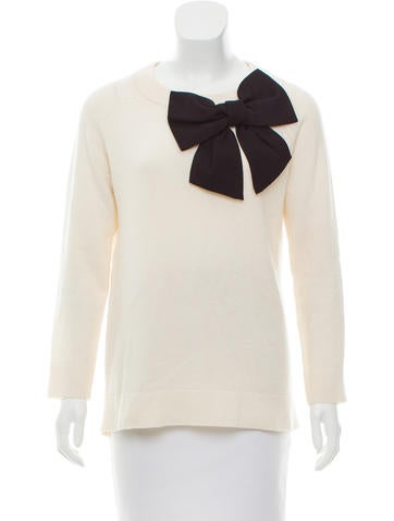 Kate Spade New York Bow-Accented Wool Sweater None