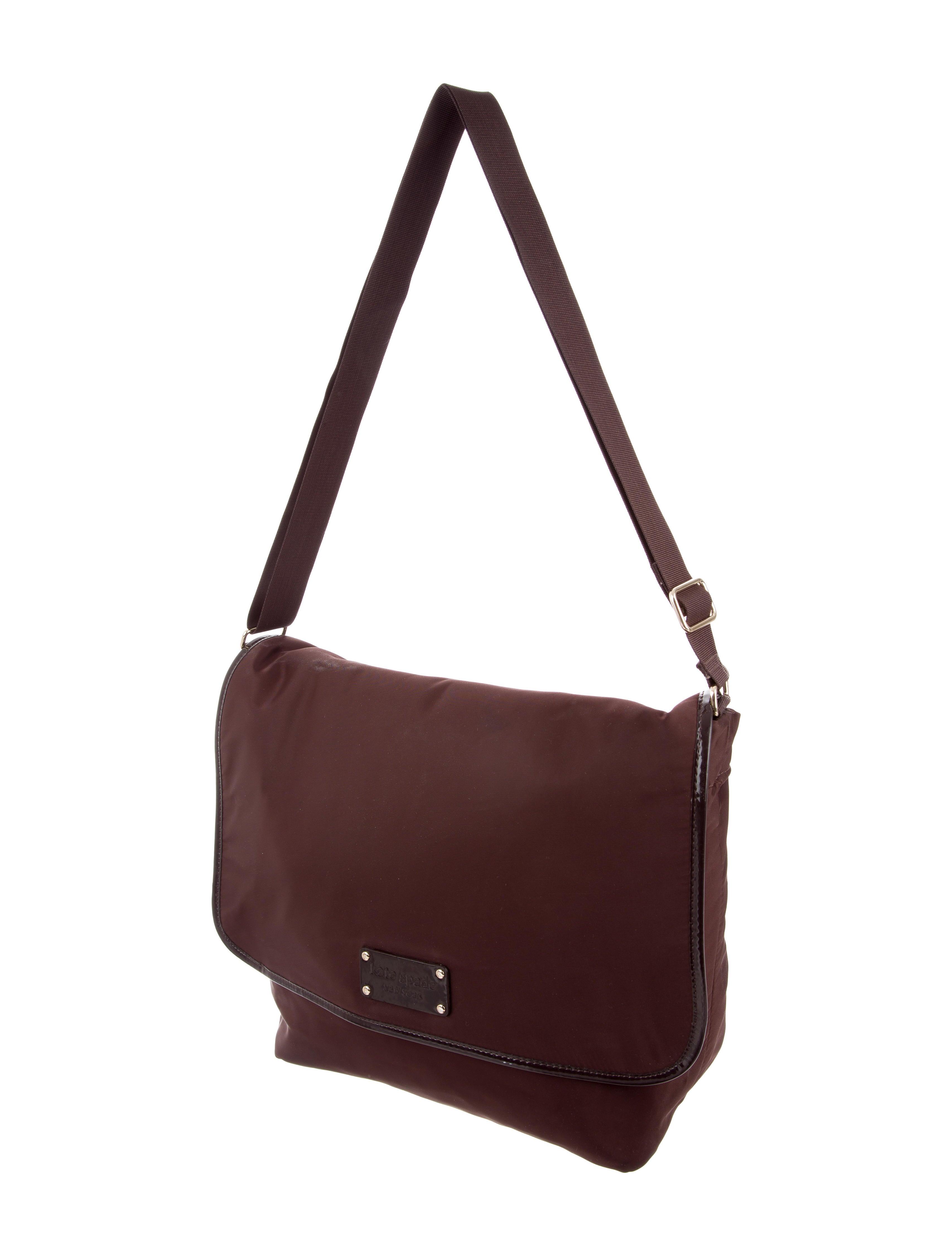 kate spade new york nylon messenger diaper bag handbags wka71123 the realreal. Black Bedroom Furniture Sets. Home Design Ideas