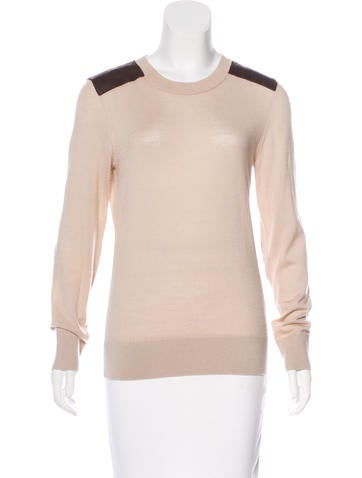 Kate Spade New York Wool and Leather Sweater None