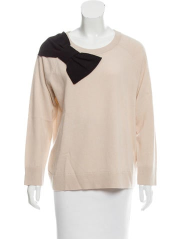 Kate Spade New York Bow Accented Wool Sweater None