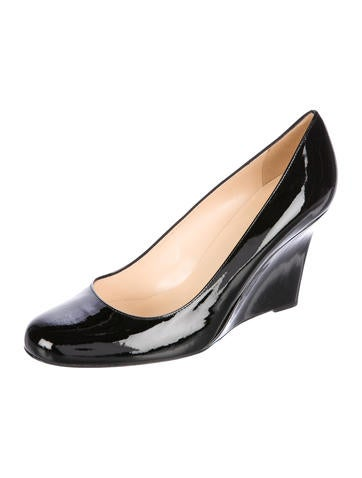 free shipping online Kate Spade New York Kiki Patent Leather Wedges supply for sale cheap authentic 5Slo8k6