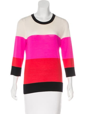 Kate Spade New York Wool Colorblock Sweater None