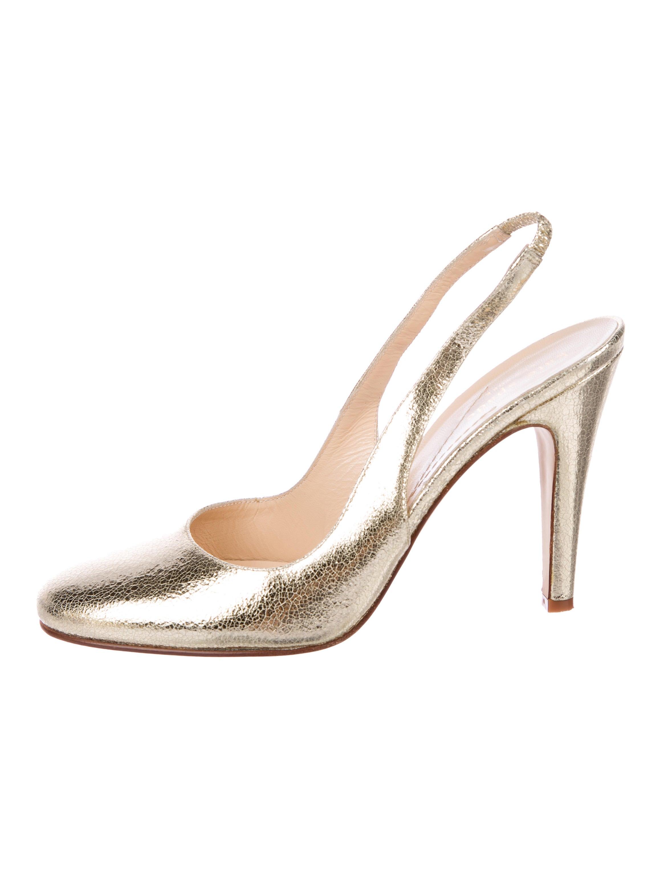 9e016b74f655 Kate Spade New York Metallic Slingback Pumps - Shoes - WKA73182 ...