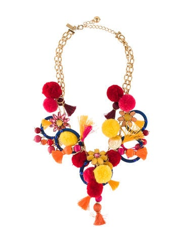 Kate Spade New York Pretty Poms Statement Necklace None