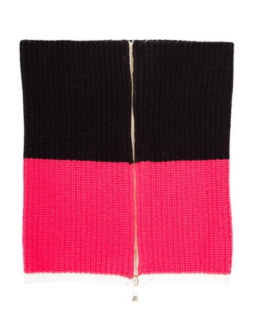 Kate Spade New York Colorblock Rib Knit Scarf None