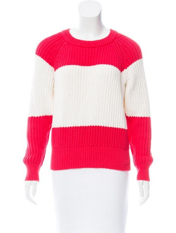 Kate Spade New York Rib Knit Crew Neck Sweater None