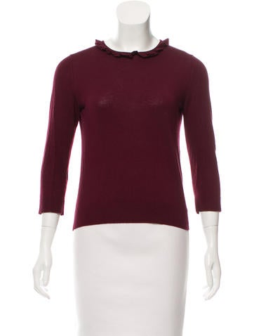 Kate Spade New York Long Sleeve Crew Neck Sweater None
