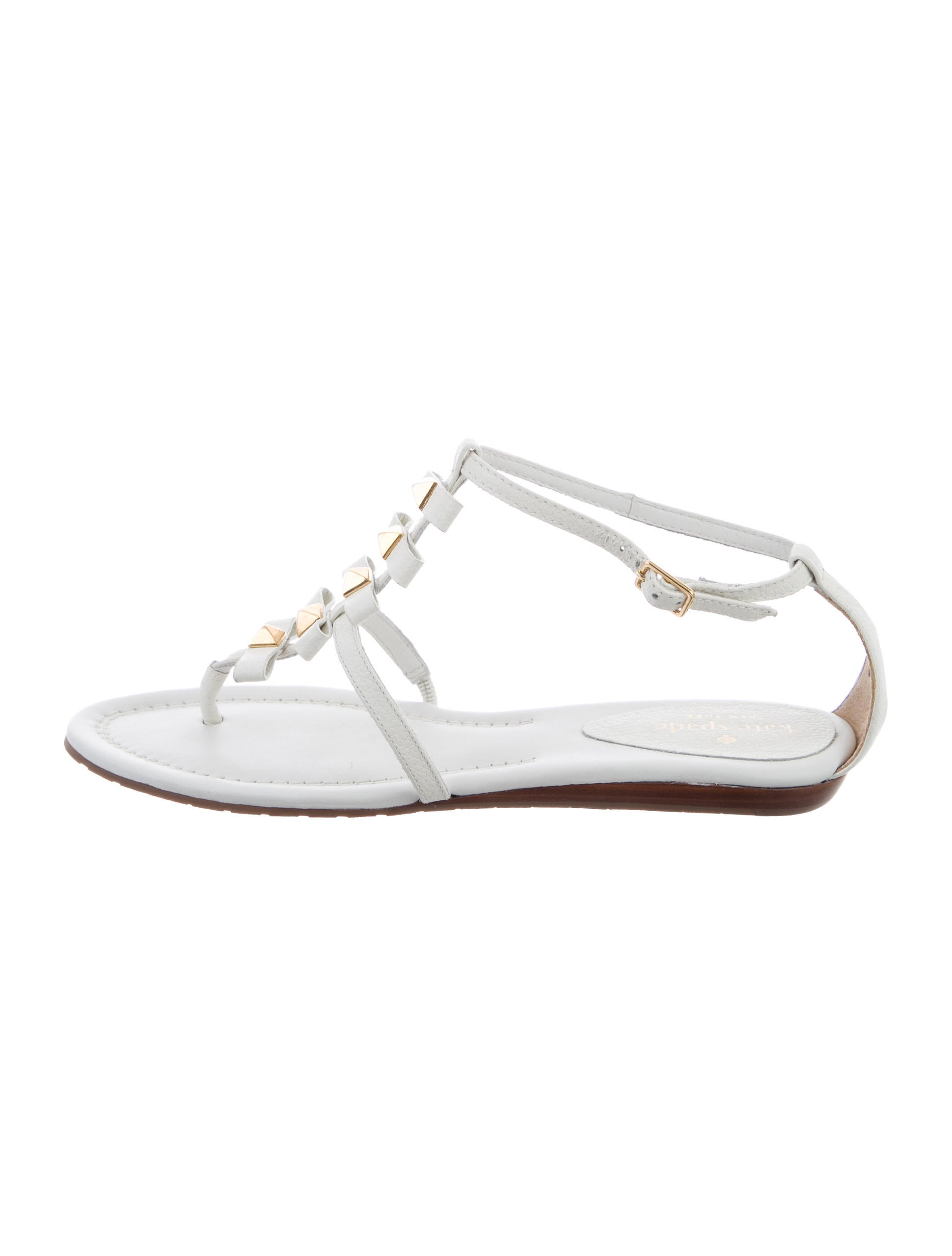 buy cheap for nice clearance official site Kate Spade New York Leather Stud-Embellished Sandals kBlf3q