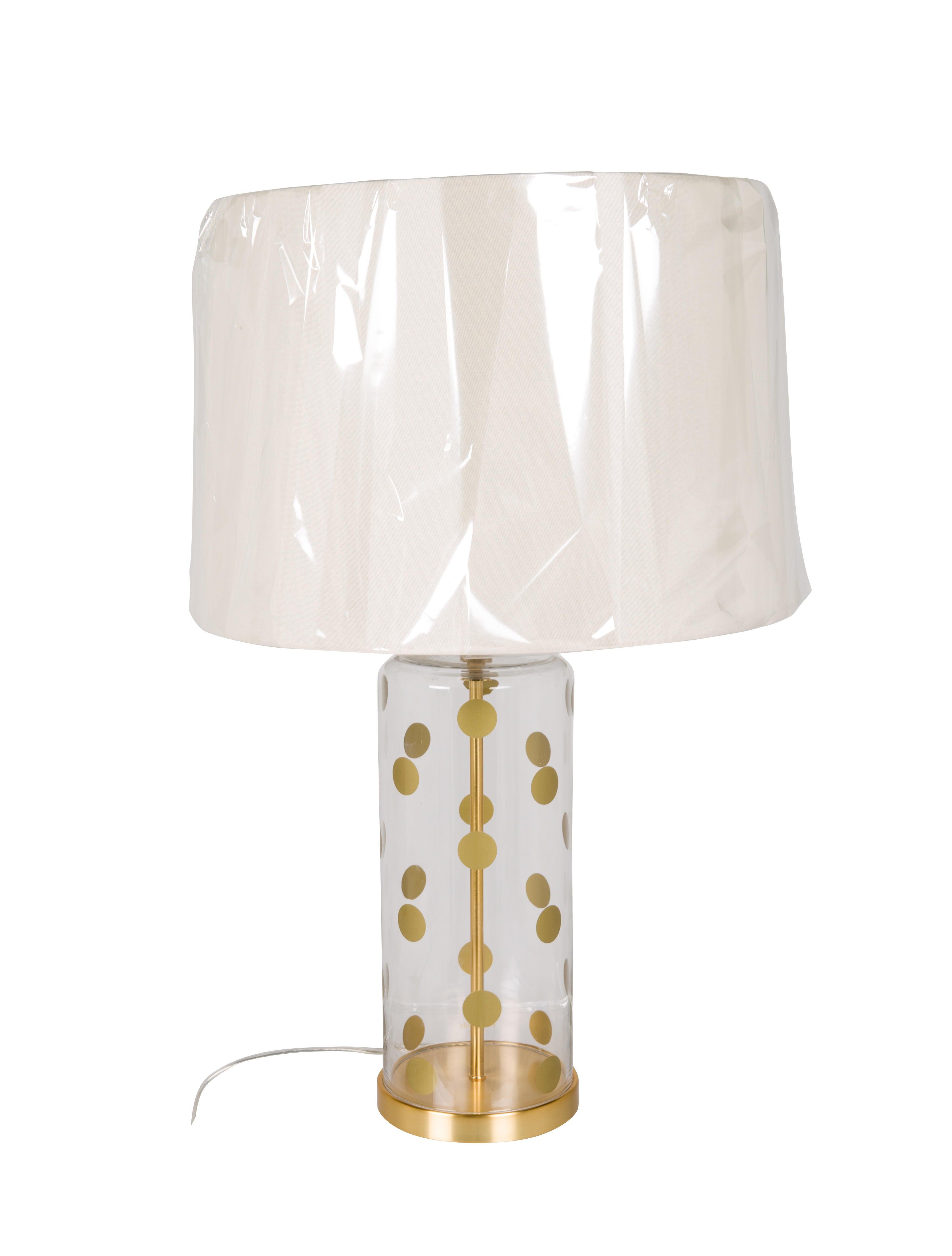 kate spade lamp bathroom kate spade new york modern pavilion clear dot table lamp lighting wka75513 the realreal