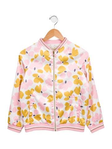 Kate Spade New York Girls' Printed Bomber Jacket None