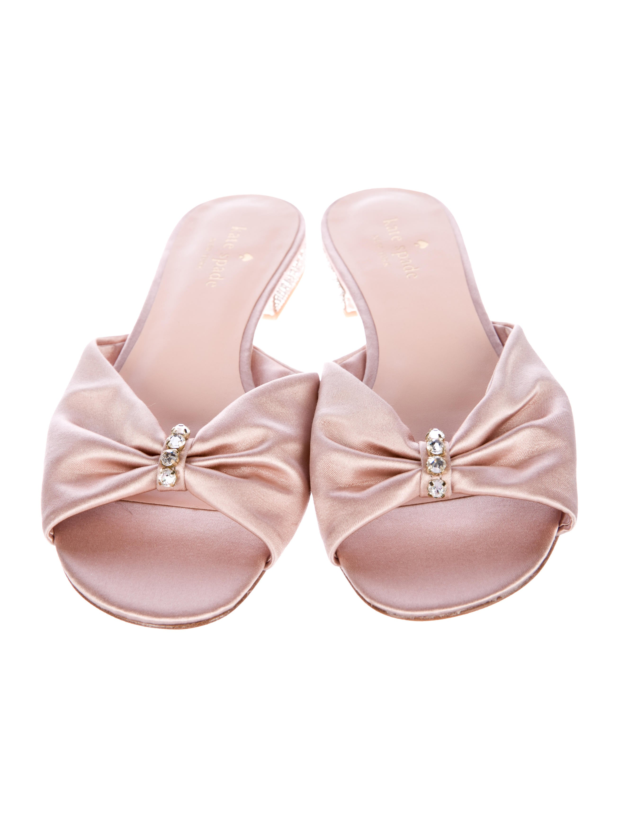 Kate Spade New York Fenton Satin Slide Sandals w/ Tags cheap price outlet sale aZssO