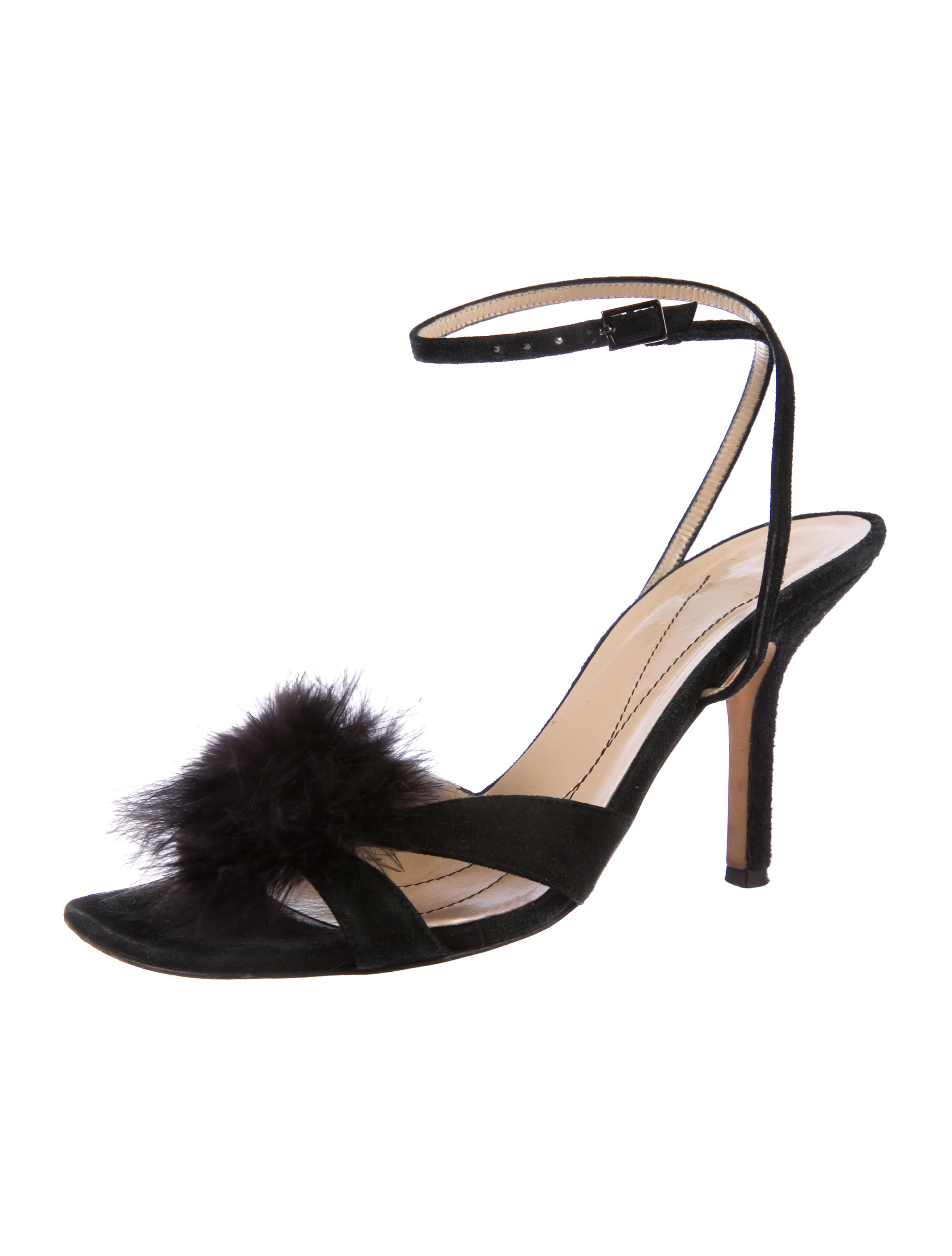 2015 new clearance online amazon Kate Spade New York Feather-Accented Suede Sandals cheap sale 2015 GejeJ00IH
