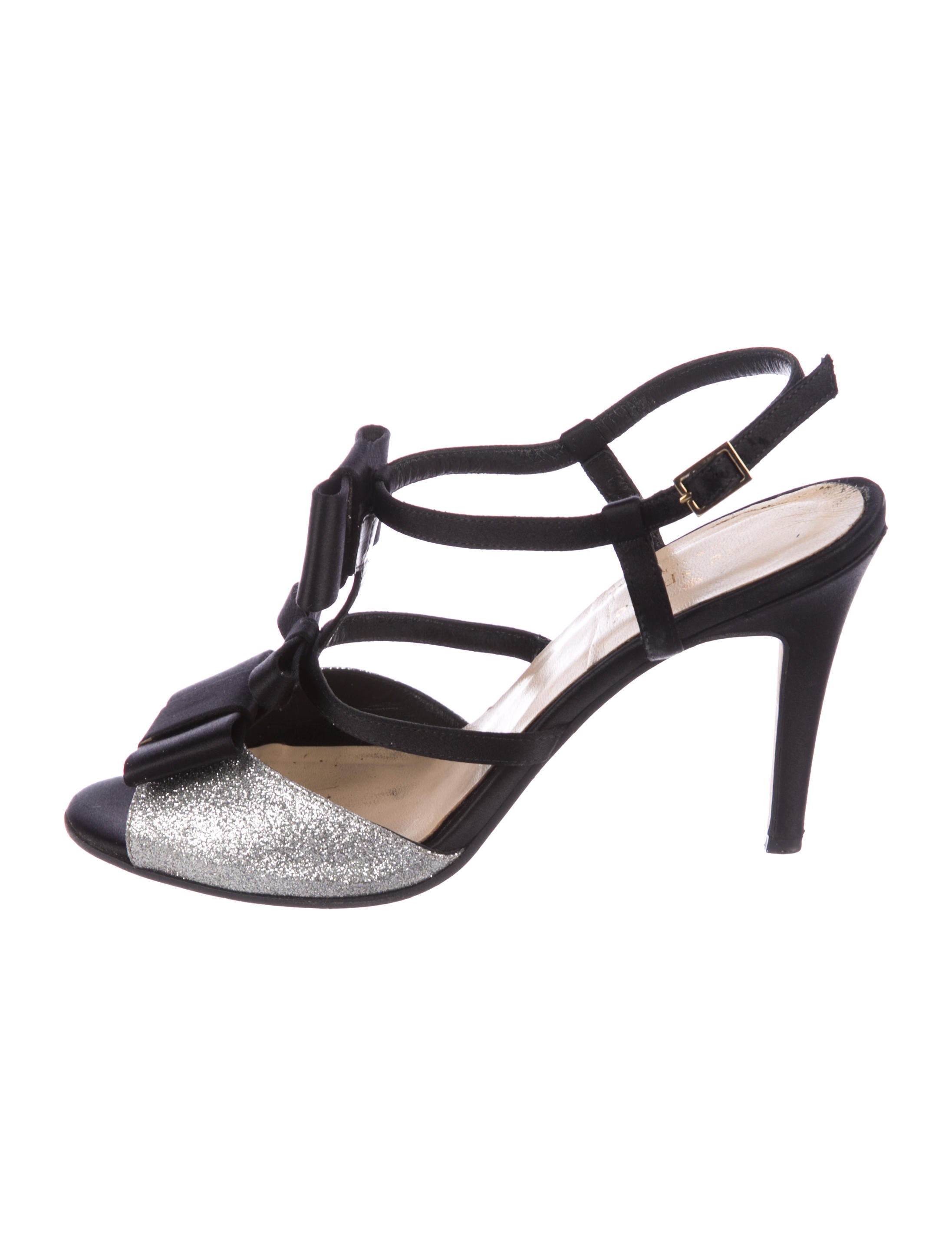 Kate Spade New York Satin Glitter-Accented Sandals find great outlet cheap cheap sale sast outlet online cost sale online YlMqARf7