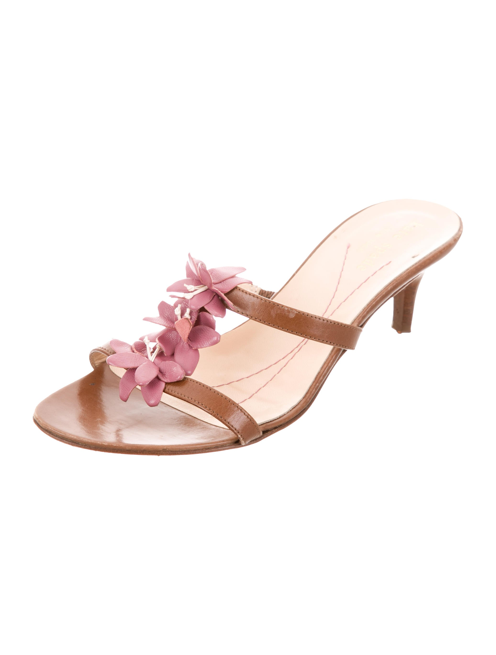 low shipping for sale buy cheap wide range of Kate Spade New York Floral-Accented Slide Sandals NGoIvM1x