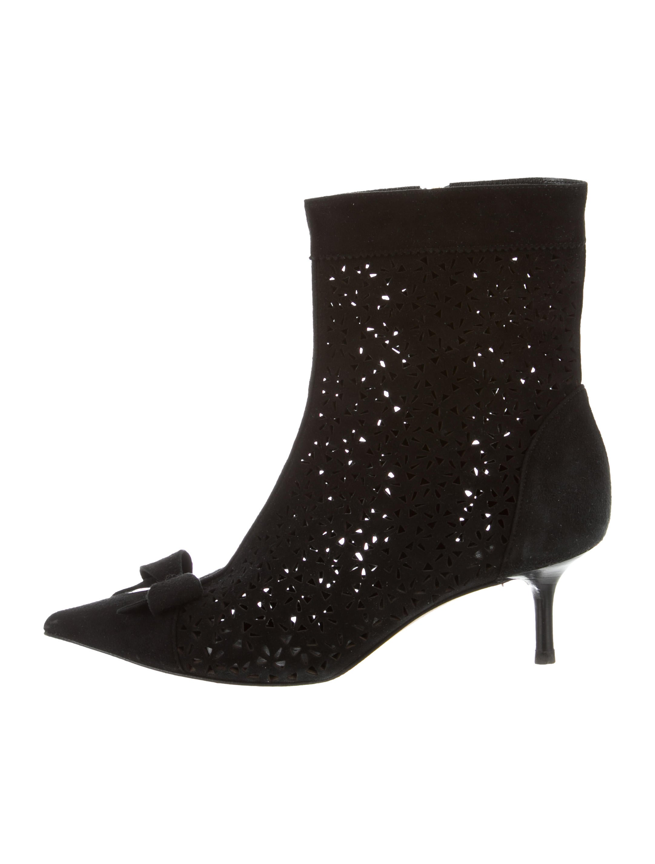 Kate Spade New York Laser Cut Pointed-Toe Ankle Boots outlet discount outlet store for sale HZhu7WUk8