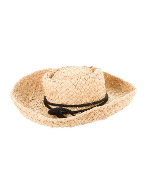 Kaminski Straw Wide Brim Hat Tan