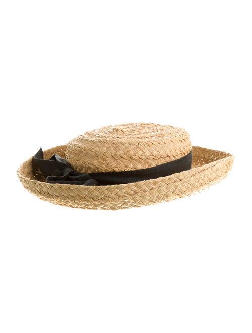 Kaminski Raffia Wide Brim Hat Tan