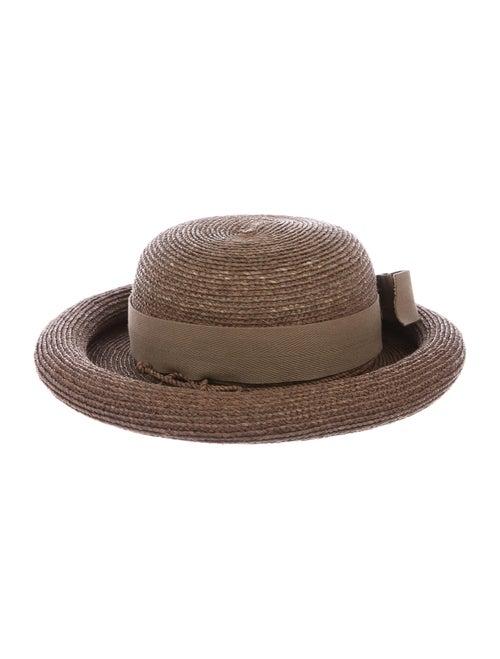 Kaminski Raffia Woven Hat Brown