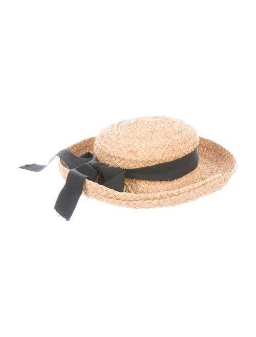 Kaminski Raffia Wide-Brim Hat Tan