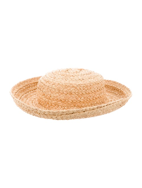 Kaminski Woven Straw Wide-Brim Hat Natural - image 1