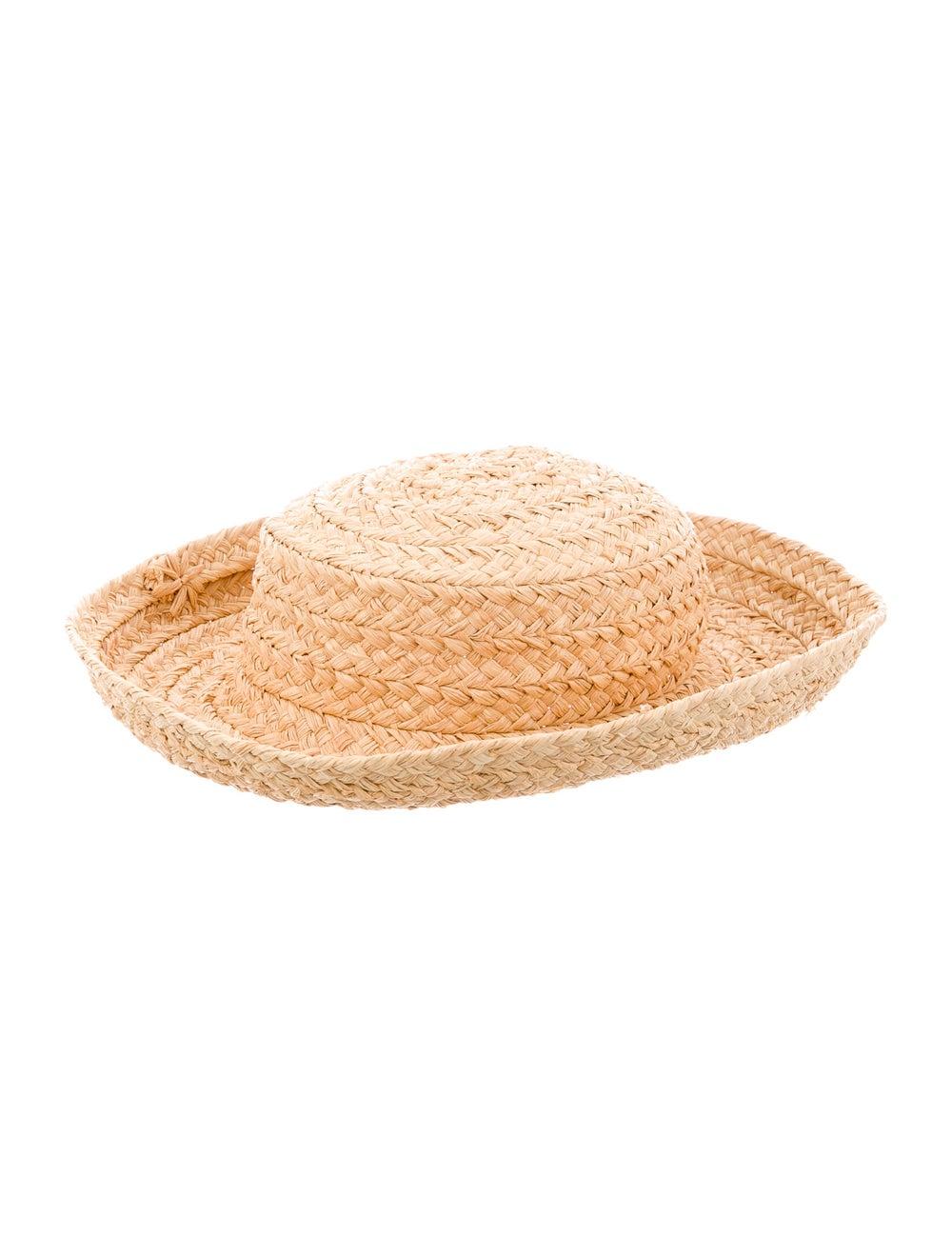 Kaminski Woven Straw Wide-Brim Hat Natural - image 2