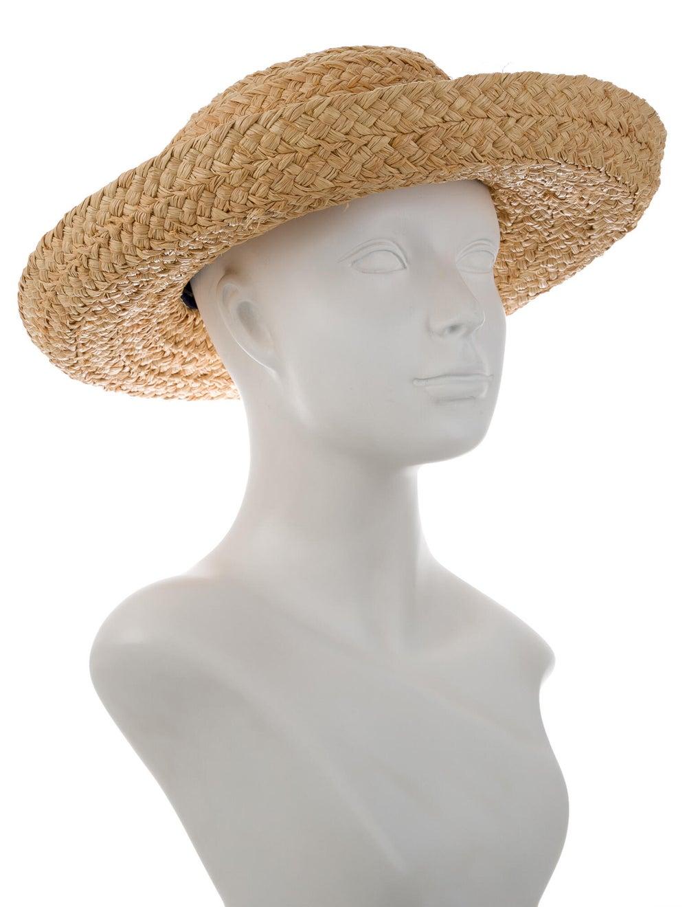 Kaminski Woven Straw Wide-Brim Hat Natural - image 3