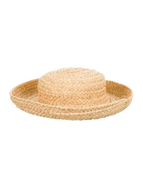 Kaminski Straw Wide Brim Hat Tan - image 1