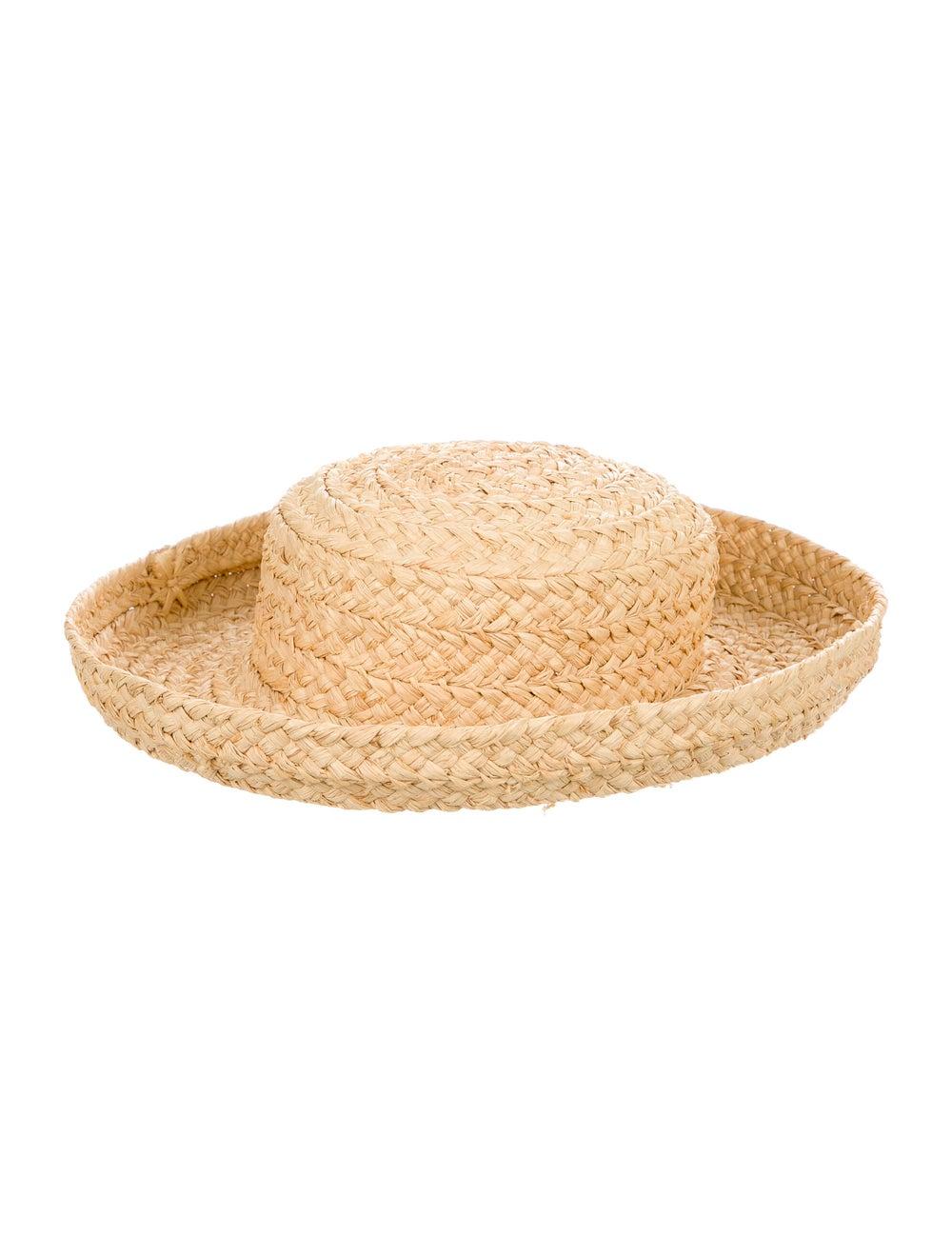 Kaminski Straw Wide Brim Hat Tan - image 2
