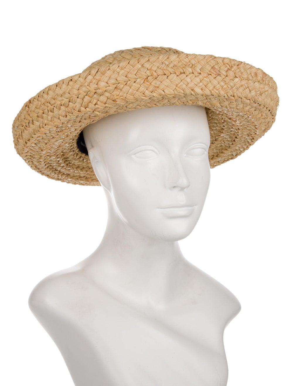 Kaminski Straw Wide Brim Hat Tan - image 3